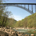 New River Gorge Bridge in Spring