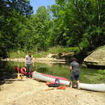 Canoes in the Red River Gorge