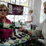 Sampling Wine at the Uniquely West Virginia Event in Berkeley Springs