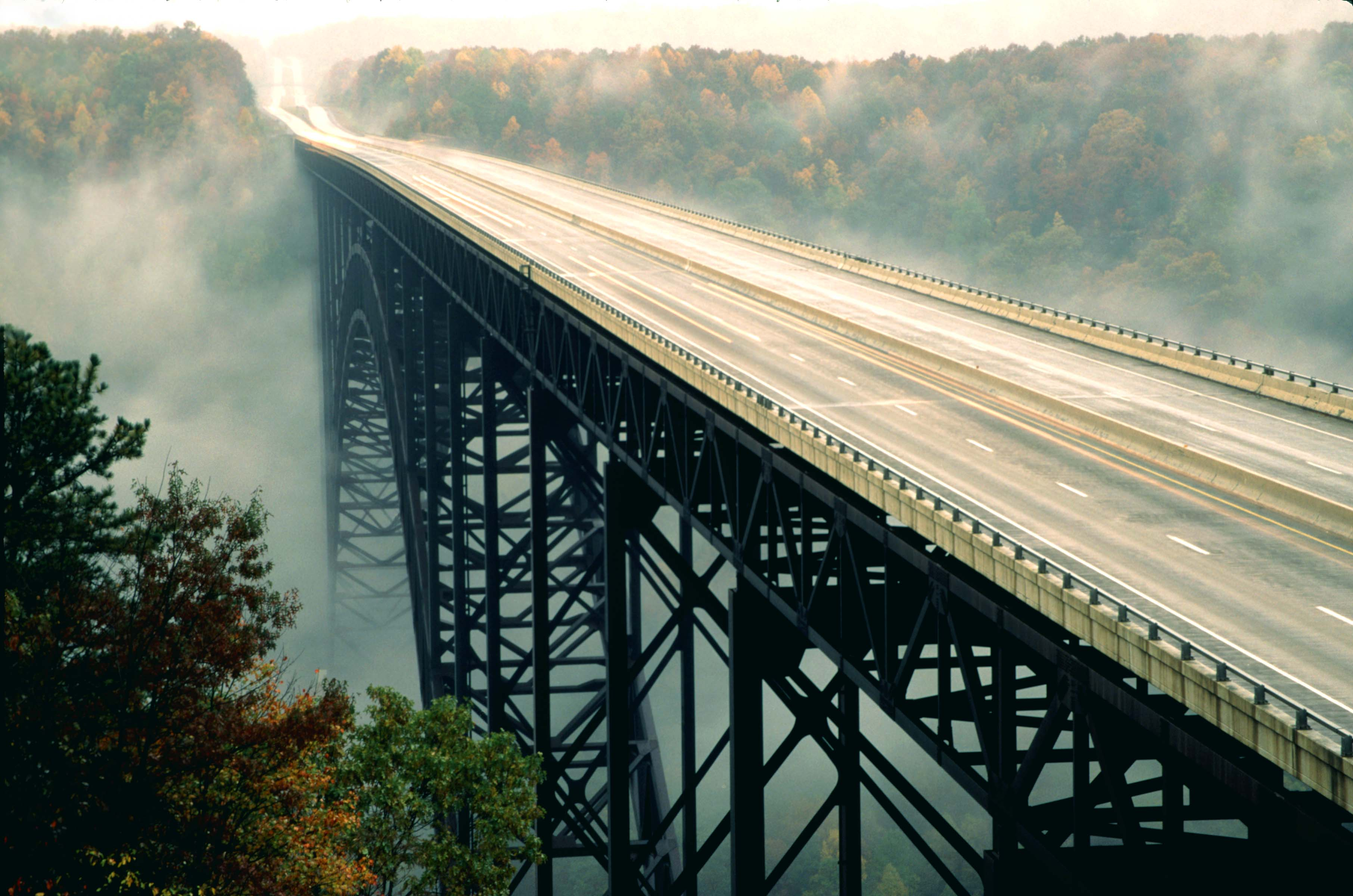 Photo #77515: New River Gorge Bridge From Above | America's Byways