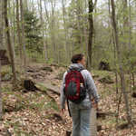 Hiker on the Mount Goodnow Trail