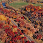 Aerial View with Fall Foliage