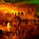 Stalagmites and Stalactites in Skyline Caverns