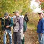 Birdwatchers in Autumn