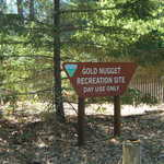 Gold Nugget Recreation Area Sign