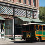 Trolley Before Baldwin Hotel Museum