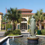 Statue and Fountains at Daphne City Hall
