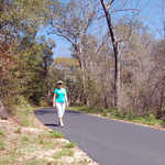 Hiker and Bikers on Gulf Oak Ridge Trail