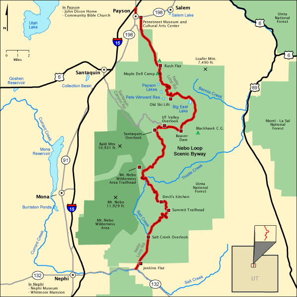 Nebo Loop Scenic Byway Map America 39 S Byways