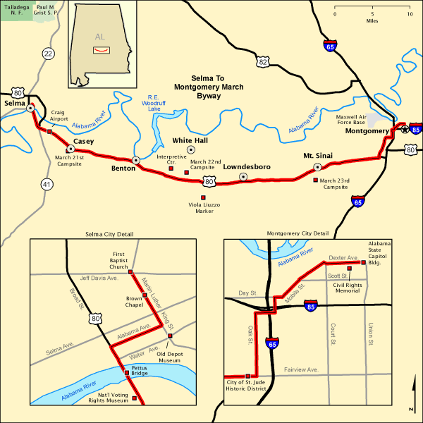 Selma to Montgomery March Byway - Map | America\'s Byways