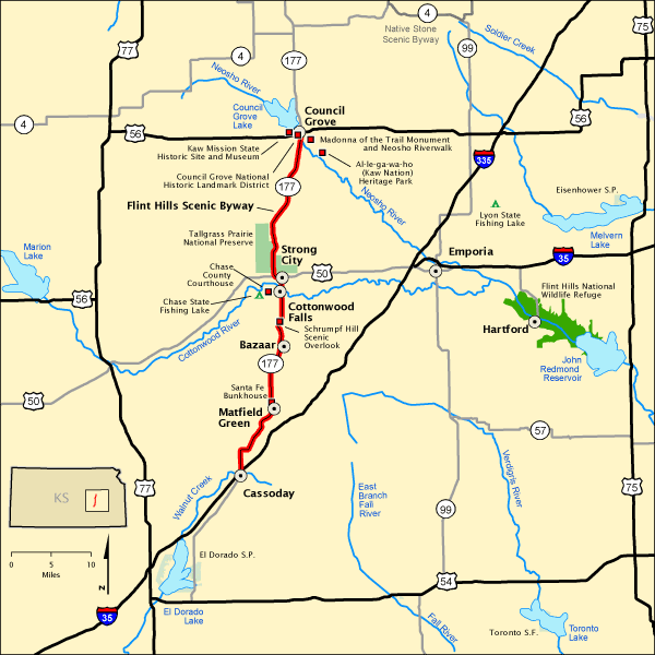 Flint Hills Scenic Byway - Map | America's Byways on small kansas town map, atlas road map, indiana road map, lawrence kansas road map, md road map, mo road map, idaho road map, current road conditions kansas map, kc road map, kansas county map, topeka road map, km road map, kansas city road map, kansas driving map, nebraska road map, oklahoma road map, kentucky road map, wichita road map, co road map, bc british columbia road map,