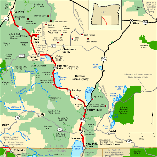 Outback Scenic Byway Map America 39 S Byways