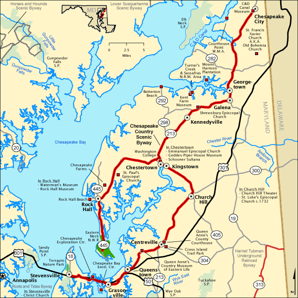 Chesapeake Country Scenic Byway Map Americas Byways