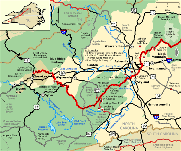 Blue Ridge Parkway Nc Western Section America S Byways