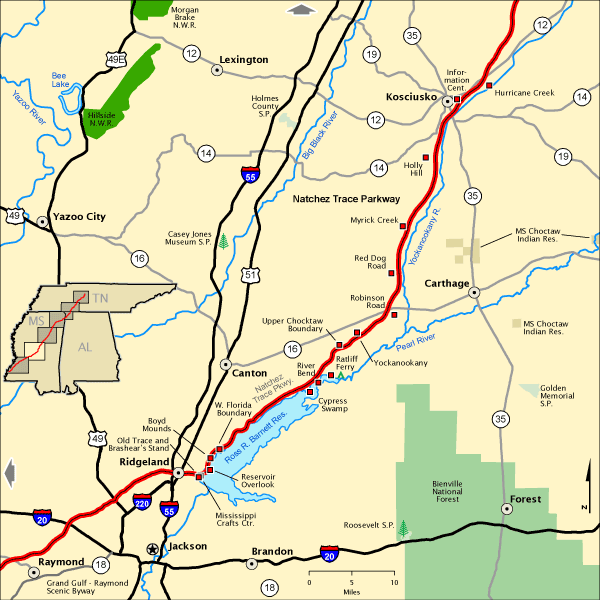 Natchez Trace Parkway Mississippi S Lower Middle Section