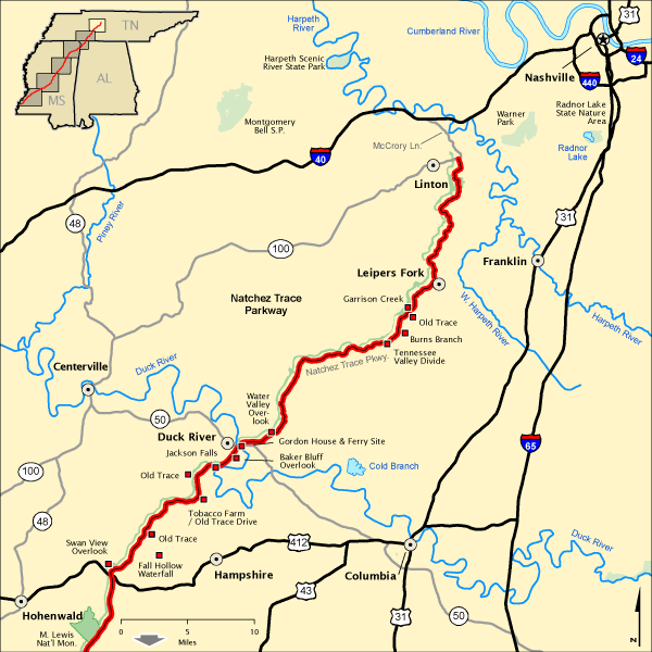 Natchez Trace Parkway   Tennessee's Upper Section | America's Byways
