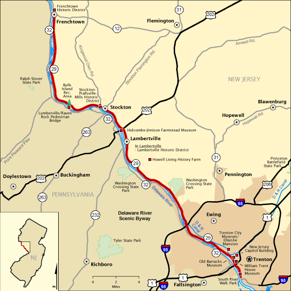 Delaware River Scenic Byway Map Americas Byways - Delaware river on us map