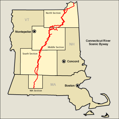 Connecticut River Byway  Map  America39s Byways