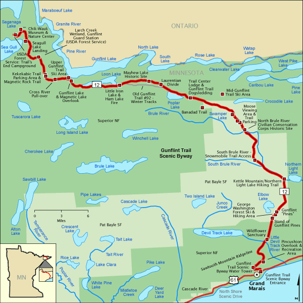 Gunflint Trail Scenic Byway Map America S Byways