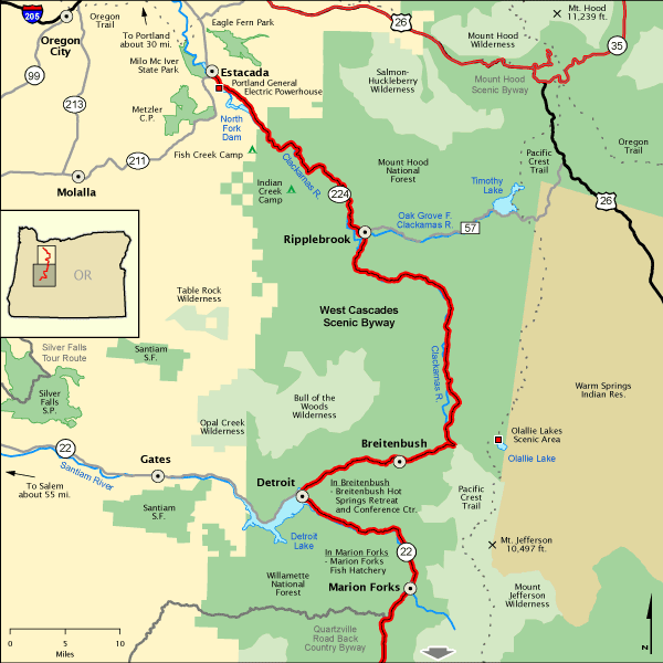 West Cascades Scenic Byway Northern Section America 39 S