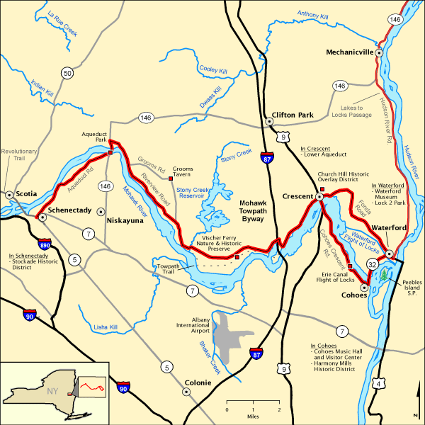 Mohawk Towpath Byway Map America 39 S Byways