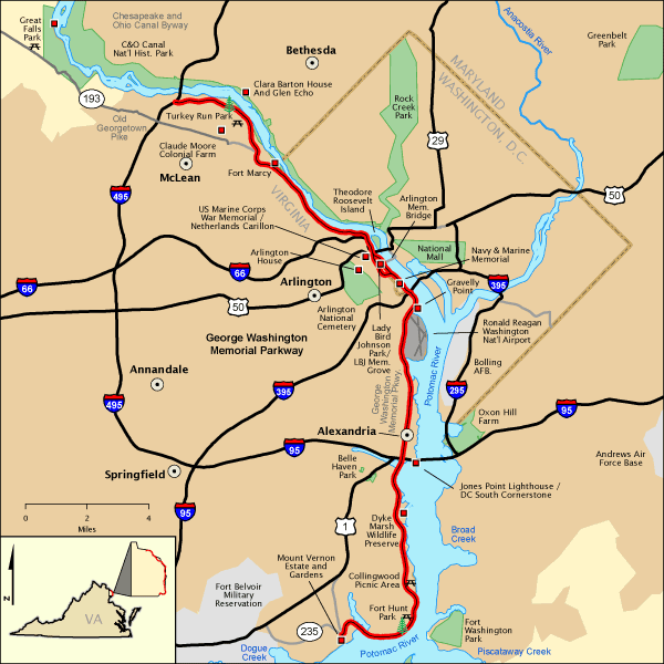 George Washington Memorial Parkway   Map | America's Byways
