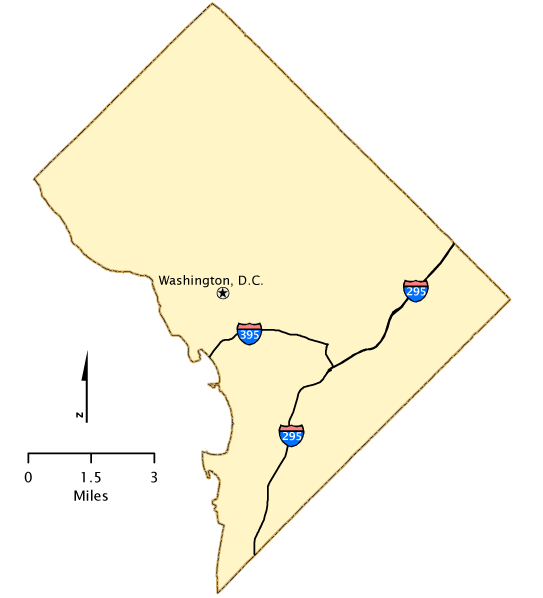 District of Columbia - Map | America\'s Byways