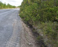 paper mill boiler ash applied to unpaved road