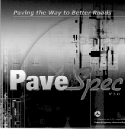 Photo of cover of PaveSpec Software