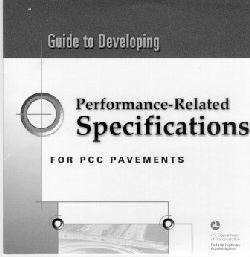 Photo of cover of Guide in Developing Performance-Related Specifications for PCC pavements