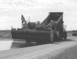 photo of paving operation