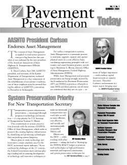 cover of Pavement Preservation Today newsletter