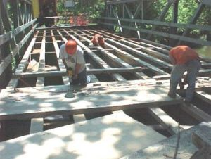 photo of bridge under construction