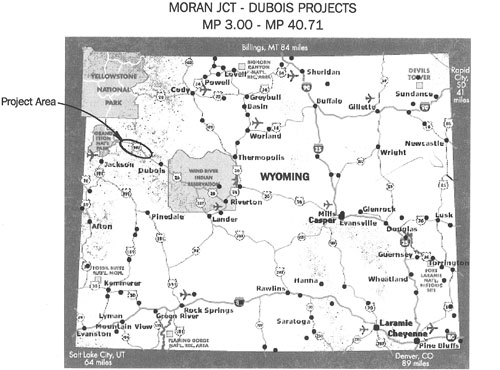 map of wyoming and surrounding states. Map of Wyoming and Project