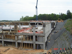 Photo of construction of multi-level parking structure.