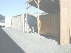 photo of steel shipping container as described in text