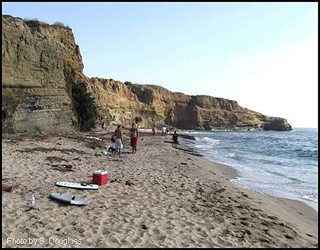 Figure 5.2. Sea cliff in San Diego California with pocket beach.