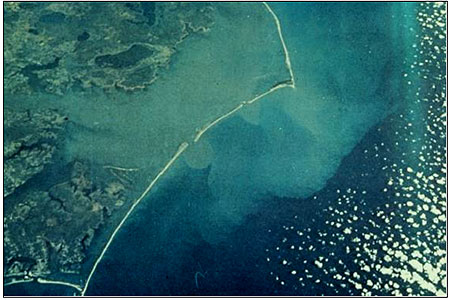 Figure 5.4. Barrier islands of the Outer Banks of North Carolina