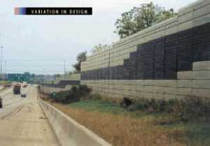 Photo: Metal Panel Noise Barrier, Viewed From The Highway Side, With A  Varied