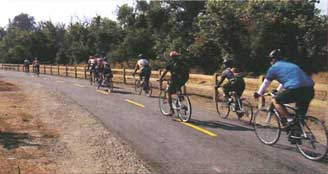 Photo of bicyclists on a trail