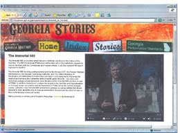 Screenshot of Georgia Stories website