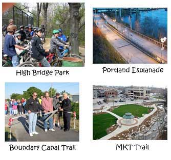 Photo collage of Recreational Trails Program Projects