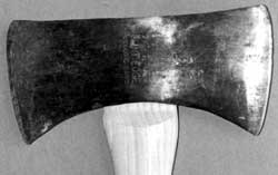 Photo of an ax with the handle being the correct length.