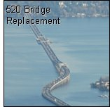 Photo: aerial view of 520 bridge replacement