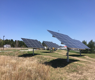 Four solar arrays.