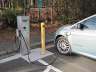 Photo of EV at charging station