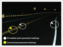 All-Weather Pavement Marking System