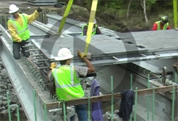 Video of Full Depth UHPC Waffle Bridge Deck Panels