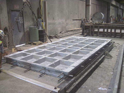 The Implementation Of Full Depth Uhpc Waffle Bridge Deck