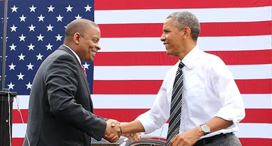 President Barack Obama and Secretary of Transportation Anthony J. Foxx Visit Turner-Fairbank Highway Research Center.